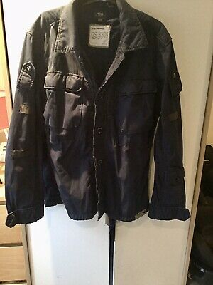 G STAR RAW. GS 3301 Mens Jacket Size XXL Blue Cotton Would