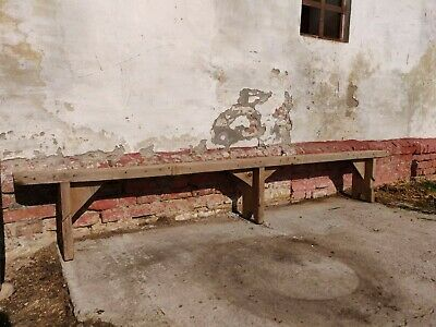 Vintage Wooden School Garden Bench Rustic Chairs or Stool