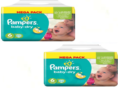 Taille 6 Pampers Baby Dry 136 couches à 39,95 € .