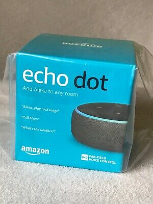Amazon Echo Dot (3rd Generation) Smart Speaker with Alexa - Charcoal Fabric