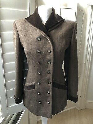 Vintage Valentino Wool Brown Tailored Jacket UK6/8