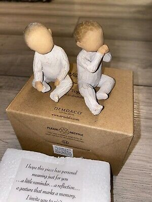 Willow Tree Two Together Figurine Resin Hand-Painted Baby Twins Ornament Gift