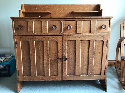 Antique Bought From Liberty & Co Arts & Crafts Dresser Drinks Sideboard Oak