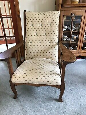 Antique Or Vintage Arts And Crafts Armchair Professionally Reupholstered