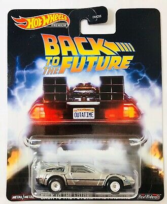 NEW 2020 Hot Wheels Premium Retro Entertainment Back To The Future Time Machine