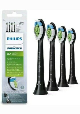 Philips Sonicare Optimal White Pack of 4 Electric Toothbrush Heads - Black