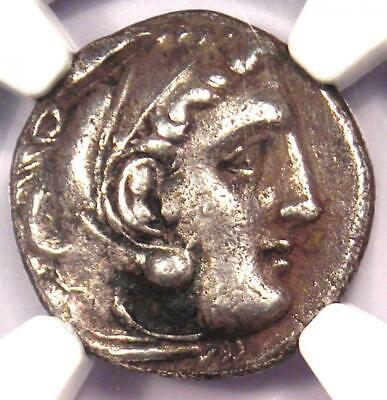 Alexander the Great III AR Drachm Silver Coin 336 BC - Certified NGC Choice VF!
