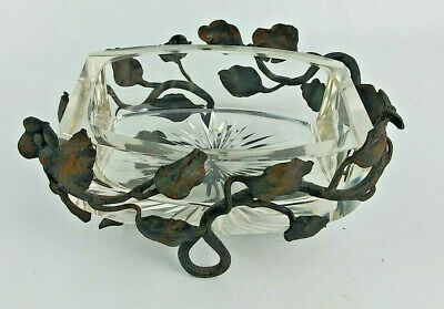 Antique Victorian Cast Iron and Glass SOAP DISH