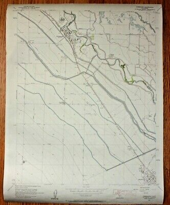 Vintage 1971 USGS Topographical Map Firebaugh Quadrangle