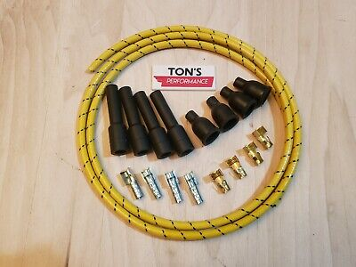 Copper Core Coil 7mm Cloth Covered Spark Plug Wire Set Vintage Wires Inline 6 Wi