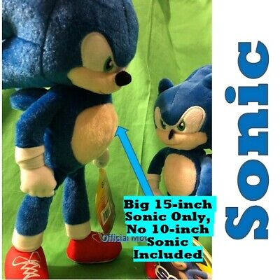 NEW Big Sonic the Hedgehog Movie Sonic Plush W/Toy Factory official 15 inch SEGA