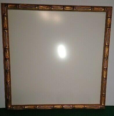 Mid Century Faux Bamboo Picture Frame Art Wood Gold Gilt Plexiglass 4 Available