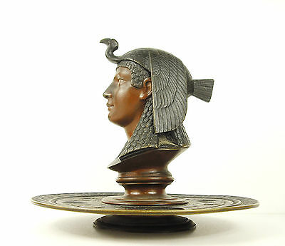 Queen Genuine Ancient Egyptian Faience Her Hair a Vulture of Egypt Crow Inkwell