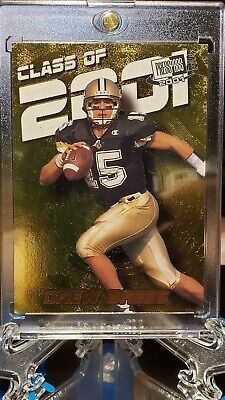🔥 Drew Brees Class Of 2001 Gold Foil Rookie Card W/Mag Case New Orleans Saints!