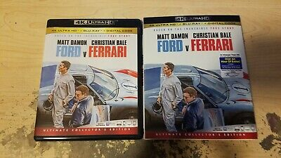 Ford V Ferrari (4K Ultra HD and Blu-ray) w/Slipcover No digital, Damon, Bale