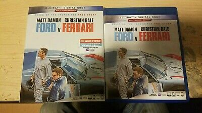 Ford V Ferrari (Blu-Ray) FREE Shipping Matt Damon, Christian Bale, No Digital