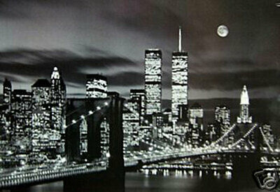 New York City World Trade Center Poster B & W 24 x 36 New