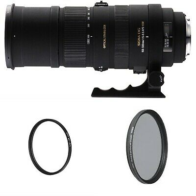 Sigma DG 150-500mm f/5-6.3 APO HSM DG SLD OS Lens For Canon-with 86mm UV/PL