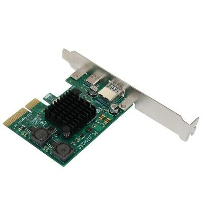 PCI-E 4X Express To USB 3.1 Type C Expansion Card with 15 Pin PCIe Converte X4U4