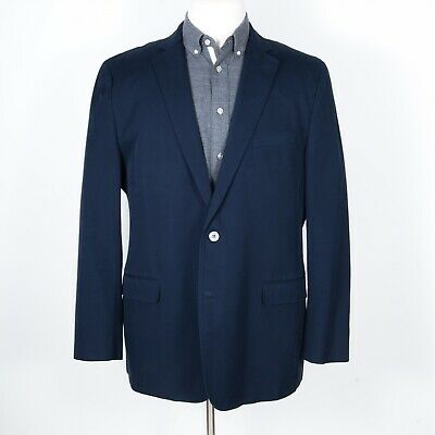 Brooks Brothers Fitzgerald Two-Button Suit Jacket/Blazer 100% Cotton Navy 46 L