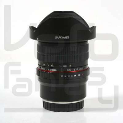 SALE Samyang 8mm f/3.5 UMC Fish-eye CS II Lens for Fuji X-mount Hood Detachable