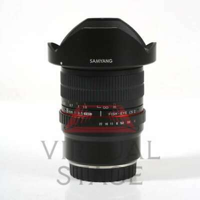 NEW Samyang 8mm f/3.5 UMC Fish-eye CS II Lens for Fuji X-mount Hood Detachable