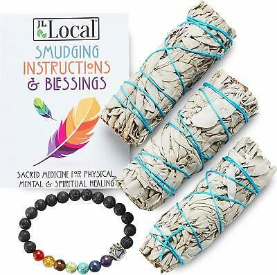 Jl Local White Sage Smudge Sticks Bundles Gift Set - California Sage - Smudging