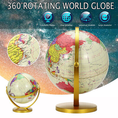 32cm Vintage Style Rotating Globe Swivel Map Earth Geography World Kids Gifts