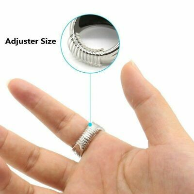 6pcs Ring Sizer Universal Size Adjuster Reducer SPIRAL STYLE Snug Jewellery Ring