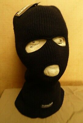 Black Balaclava With Micro Fibre Thermal Insulated Lining