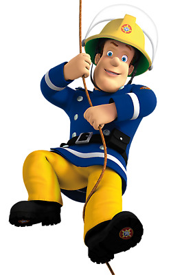 """Fireman Sam  Canvas 10/""""x10/""""  Framed Picture s1"""