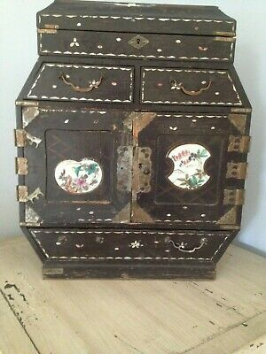 Antique Japanese Lacquered Jewellery Cabinet