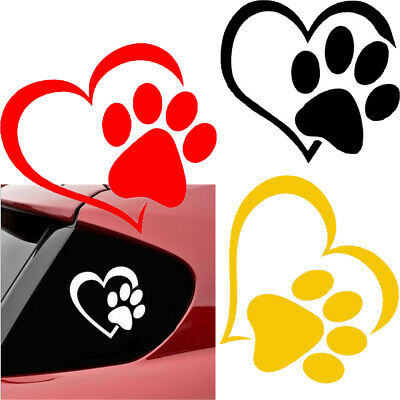 Pit bull Heart Vinyl Decal car truck sticker bumper window adopt bully cat dog