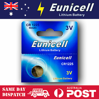 1x EUNICELL CR1225 3V Lithium Batteries  BR1225  DL1225 Button Cell Battery