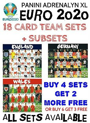 Panini Adrenalyn Xl Euro 2020 Full 18 Card Team Sets - All Subsets Playoff Teams