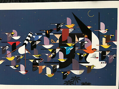 Charley Charles Harper  Mystery of the Missing Migrants Art print