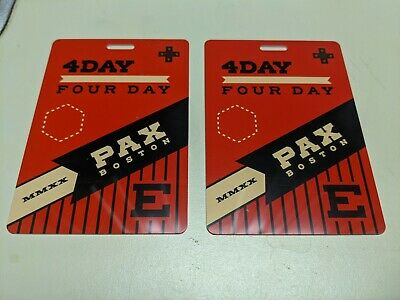 2x PAX East 2020 Boston, MA 4 Day Badge FREE UPS NEXT DAY AIR SHIPPING