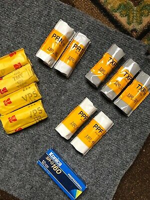 12 Rolls 120 Vintage 11 Kodak (1konica). Stored Cold. Expired. Shoots Well