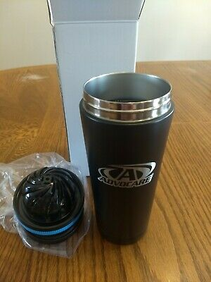 AdvoCare logo Ice Shaker 26oz Stainless Steel Insulated Water Bottle