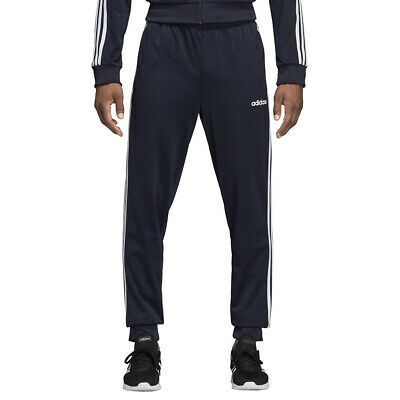 Adidas Pantaloni da Uomo Essentials 3-Stripes Tapered Tricot Blu Codice DU0452