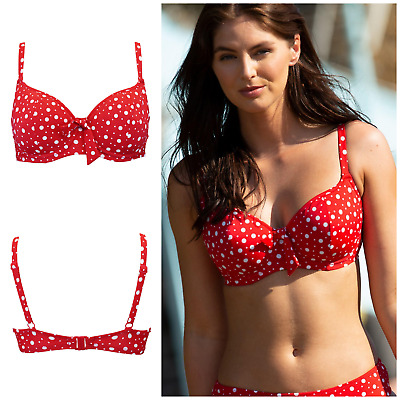 66000 Pour Moi Waffle Padded Sweetheart Underwired Bikini Top Blue