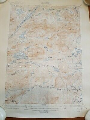 """Vintage Topographic Maps NYS lot of (4) 20""""×16.5"""""""