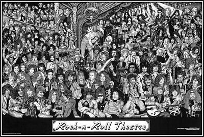 Rock and Roll Theater Poster 24 x 36 Howard Teman New