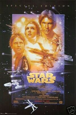 Star Wars Episode IV 4 Movie Poster 24 x 36 New Hope