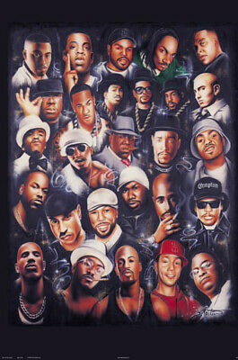 Rap Legends Collage Poster Biggie Nas Andre 2Pac E40 Snoop New 2 Sizes
