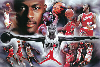 Michael Jordan Collage Poster 24 x 36 Chicago Bulls NBA New