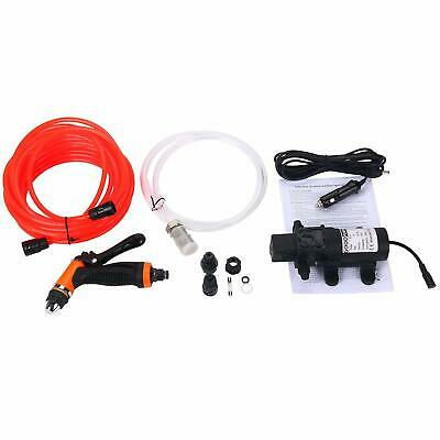 DC 12V Washdown Deck Pump 100W 145 PSI Self-Priming Quick Car Cleaning Wash Pump