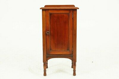 Antique Walnut Night Stand, Victorian Bedside Lamp Table 1880's Scotland, B1739