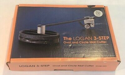 Logan Mat Cutter #201 3 Step Oval & Circle Cutter Board Beveled Round 324 & #302