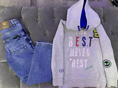 Boys Clothes Bundle Zara Jeans and Esprit Hoodie Size 7years